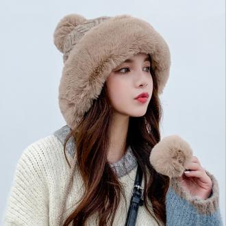 은창]귀요미 털방울 라운드 니트 모자 보온 가을 겨울 여성 여성 벙거지 모자 히트 선물 단체 사은품 햇 챙
