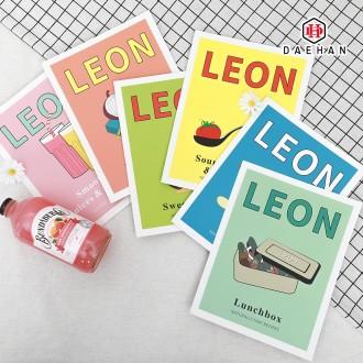 LEON 양면 카드 촬영 소품 감성 인테리어 레옹 잡지 책