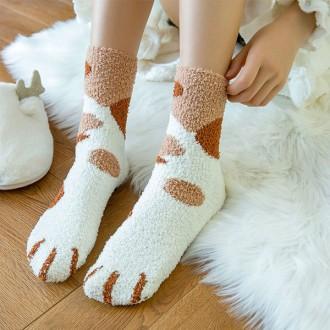 [이거찜] 예쁜데 따뜻하기까지한 고양이 수면 양말/깜찍 발랄 고양이모양 수면 양말