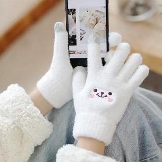 [이거찜] 귀요미 스마트폰 터치 털장갑/겨울장갑