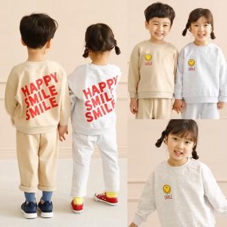 [꼬마창고] 2021봄신상/해피스마일세트/아동복/아동상하복/상하세트