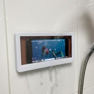 샤워프리 욕실 스마트폰 방수 거치대/부착식/화장실