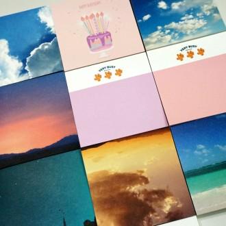 떡메모지 모음 / 100매 하늘 감성 구름 바다 노을 디자인 다꾸 떡메 100장