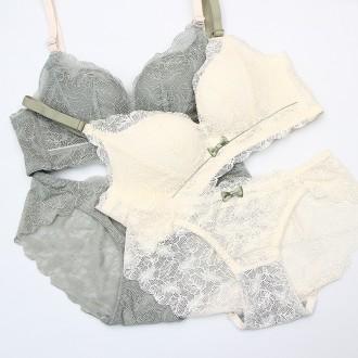 별난여우 도매 노와이어 레이스 왕뽕 브라 팬티 세트 여성속옷 1001 set