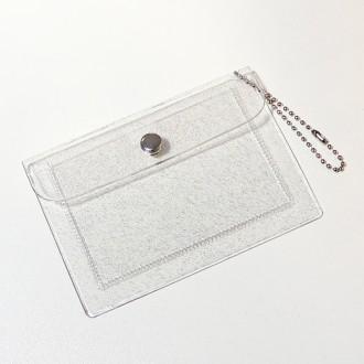 투명 카드 지갑 펄 글리터 다꾸 소품 pvc 반짝이 포토카드