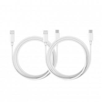 [해브잇올] 모락 디크 C to 라이트닝 8핀 18W PD 고속 충전 케이블 / 2개입 / 온라인 판매금지