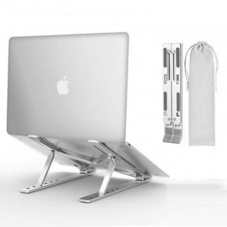 알루미늄 노트북 거치대 휴대용 접이식 6단 각도 조절 받침대