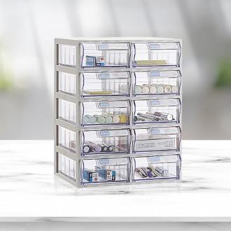 A타입 수납함 2x5/플라스틱 투명 책상 정리함 서랍장