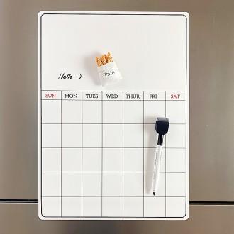 냉장고메모시트 붙이는화이트보드 냉장고메모보드 월간계획표 냉장고달력 붙이는자석보드 붙이는자석칠판