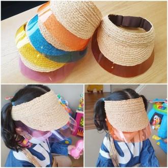 투명라피아썬캡 유아 아동 여름모자 밀짚 귀여운 인기상품