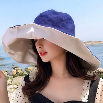양면 리버서블 왕챙 와이어 버킷햇 여름 자외선 차단 벙거지 모자 피크닉 패션 등산 해변 썬캡