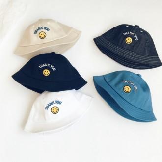 [앙상블] 아동 땡큐 스마일 벙거지 모자 유아 썬캡 버킷햇 키즈