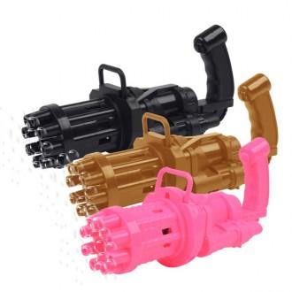 게틀링 비눗방울총 + 버블액 / 장난감 총놀이 나들이 피크닉 소풍