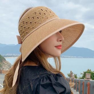 은창]펀칭 헬레나 리본 밀짚 선캡 모자 썬캡 여름 벙거지모자 밀짚모자 비치모자 베레모자 챙모자 버킷햇