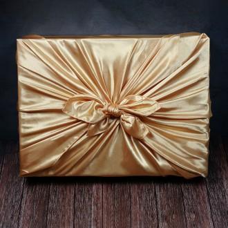 황금 공단 명절 선물 포장 보자기 DD-11314