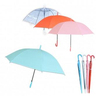 튼튼한 예쁜장우산 비 눈 학생 성인 여성 반투명우산 레드 핑크 불루 컬러우산 접이식 투명 파스텔 장우산