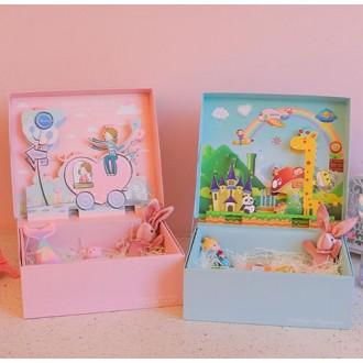 jx-10012귀여운 만화 입체 박스 생일 선물 포장 상자