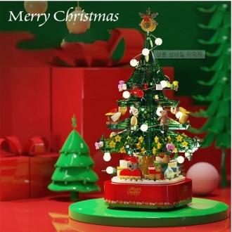 LED회전멜로디트리/셈보블럭/크리스마스블럭/불빛+멜로디+회전/교회