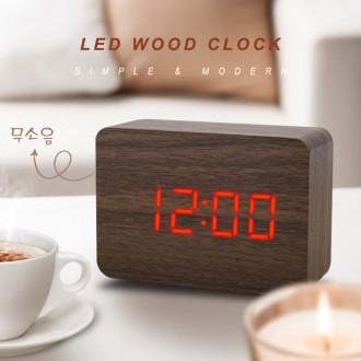 LED 무소음 우드시계/디지털/알람/탁상/전자시계/판촉
