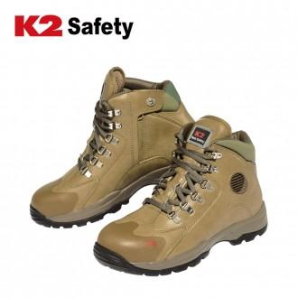 K2 안전화 K2-36(BE) 6인치 통풍구 지퍼 작업화