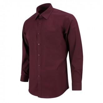 데일리 와인 자주색 긴팔셔츠 RF1105
