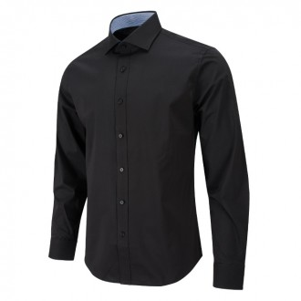 와이드 스프레드 카라 블랙 와이셔츠 RFBA1001 BK