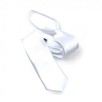 지퍼]5.5cm 화이트 하얀색 스키니 자동 지퍼넥타이 GA5002