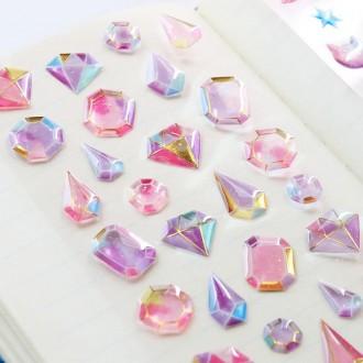 보석 스티커 / 펄 골드 핸드폰꾸미기 슬라임 데코덴 디자인 다꾸 다이아몬드