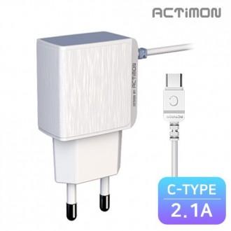 [후니케이스] 엑티몬 가정용 일체형 충전기 2.1A C핀 MON-TC2-210-CP