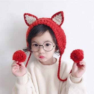 5611 아동고양이 귀도리/니트귀도리/귀마개/겨울소품