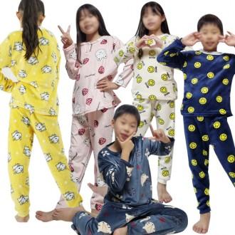 수면 잠옷 세트 강아지 아동 밍크 극세사 잠옷세트 수면잠옷 겨울 홈웨어 파자마