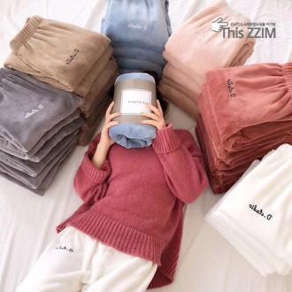 [이거찜]프리미엄 국내 최저가 밍크 수면 잠옷바지