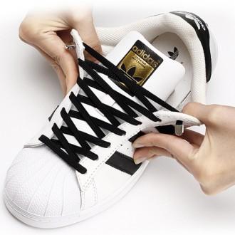 [도매큐] 매듭없는 신발끈/무매듭신발끈 매듭없는 신발끈 편리한신발끈 풀리지않는신발끈 컬러 운동화끈
