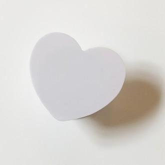 (하트톡 무지)UV 인쇄 DIY 백색 하트 스마트톡 그립톡 온라인 최저가 주문 제작 가능