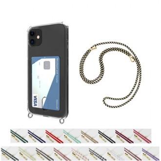 (카드수납)포켓 BRB 핸즈프리 숄더 폰스트랩 젤리 투명 케이스 / 산책 외출 스트랩 케이스 + 스트랩 Set