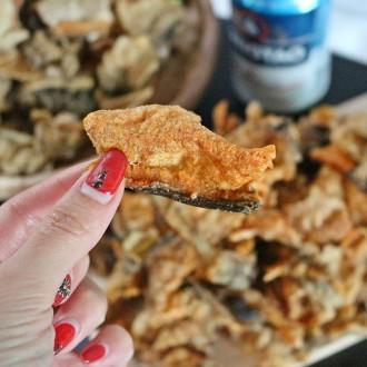 청정 동해 쩡이네 황태껍질 튀각 콜라겐 맥주안주 영양간식 다이어트 주전부리 200g