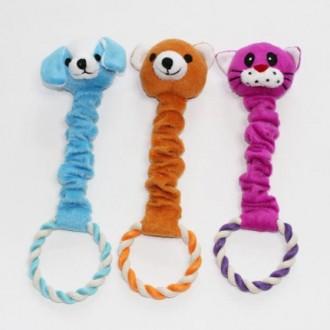 강아지 장난감 터그놀이 쫄쫄이 고무줄 인형