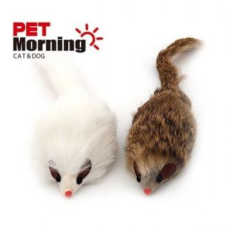 고양이 쥐 장난감 모양 인형 사냥놀이 토끼털 국내산