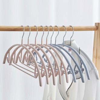 PVC 라운드형 논슬립 슬림 옷걸이 5P /미끄럼방지/니트옷걸이/코팅옷걸이