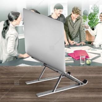 [후니케이스] 스마텍 7단 접이식 노트북 거치대 ST-NT1 초경량 미끄럼방지 파우치포함