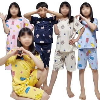 아동 잠옷 피치 반팔 곰돌이 캔디베어 상하세트 피치원단 유아 키즈 캐릭터 파자마 홈웨어
