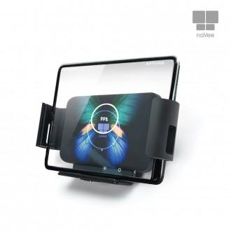 나비 차량용와이드 무선 고속충전기 NV66-WCC10Q 갤럭시폴드용