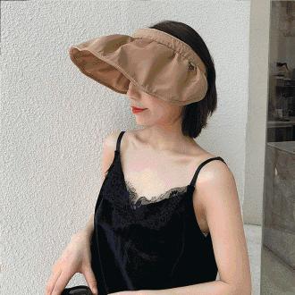 [총알배송] 뷰티 헤어밴드 자외선차단 챙모자 썬캡 돌돌이모자/ 챙모자 모자 여성모자 여름모자 머리띠