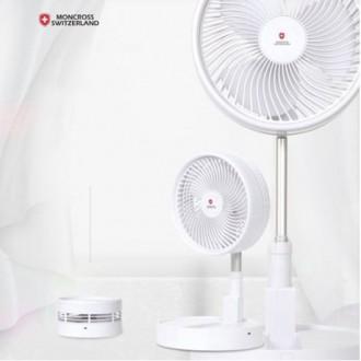 [최대높이1m] 스위스몽크로스 폴딩조절 프리미엄 선풍기 휴대용 접이식 단순생활 야외캠핑 탁상용 사무실bb