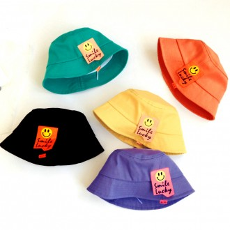 준캡 유아 아동 어린이 스마일럭키 벙거지 밀짚모자 자외선차단 귀여운모자