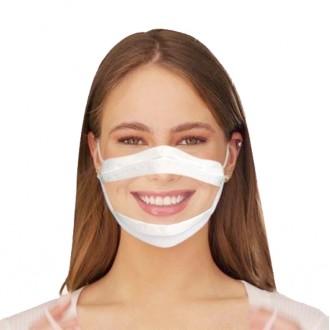 이피다 투명창 마스크 10매입 / 수어용 언어전달용 입모양 보이는 특수마스크 수화 수업 교육
