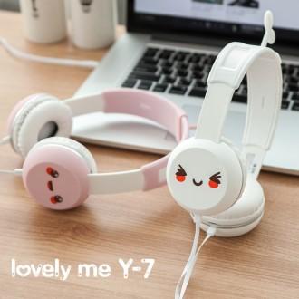 어린이 어학용 헤드폰 코비 Y-7 캐릭터 마이크헤드셋