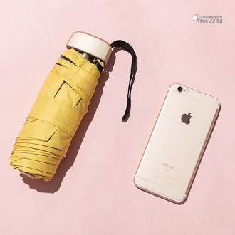 [이거찜] 태양을 피하는 법 UV암막 포켓 미니 양산우산/여름 필수품 휴대폰 크기에 초경량 양우산