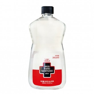 미라클 손소독제 리필용 1000ml 스프레이 액상형 손소독기리필전용 에탄올70% 의약외품 국산 당일발송