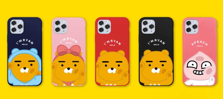 카카오 프렌즈 뽀뽀 시리즈 갤럭시 아이폰 정품 소프트 케이스